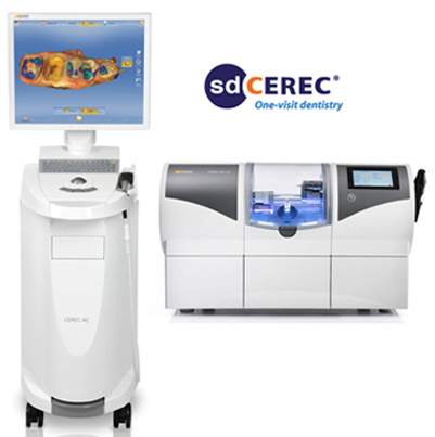 CEREC CAD/CAM computer and milling maching